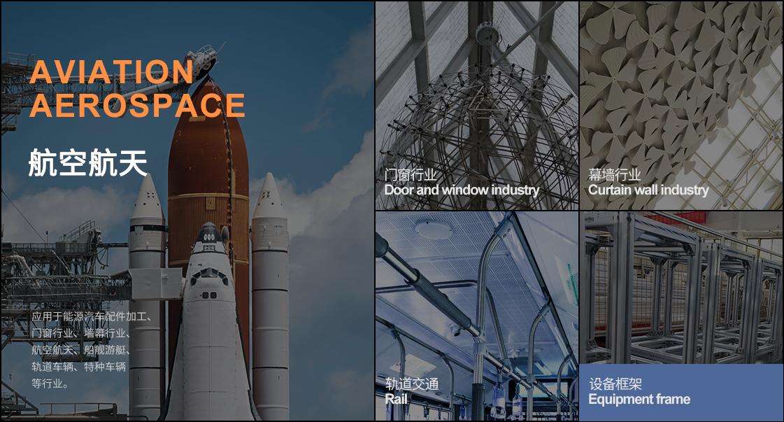 H6500大型铝型材加工中心的应用领域